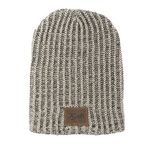 Custom Haberdasher Knit Beanie with Leather Patch
