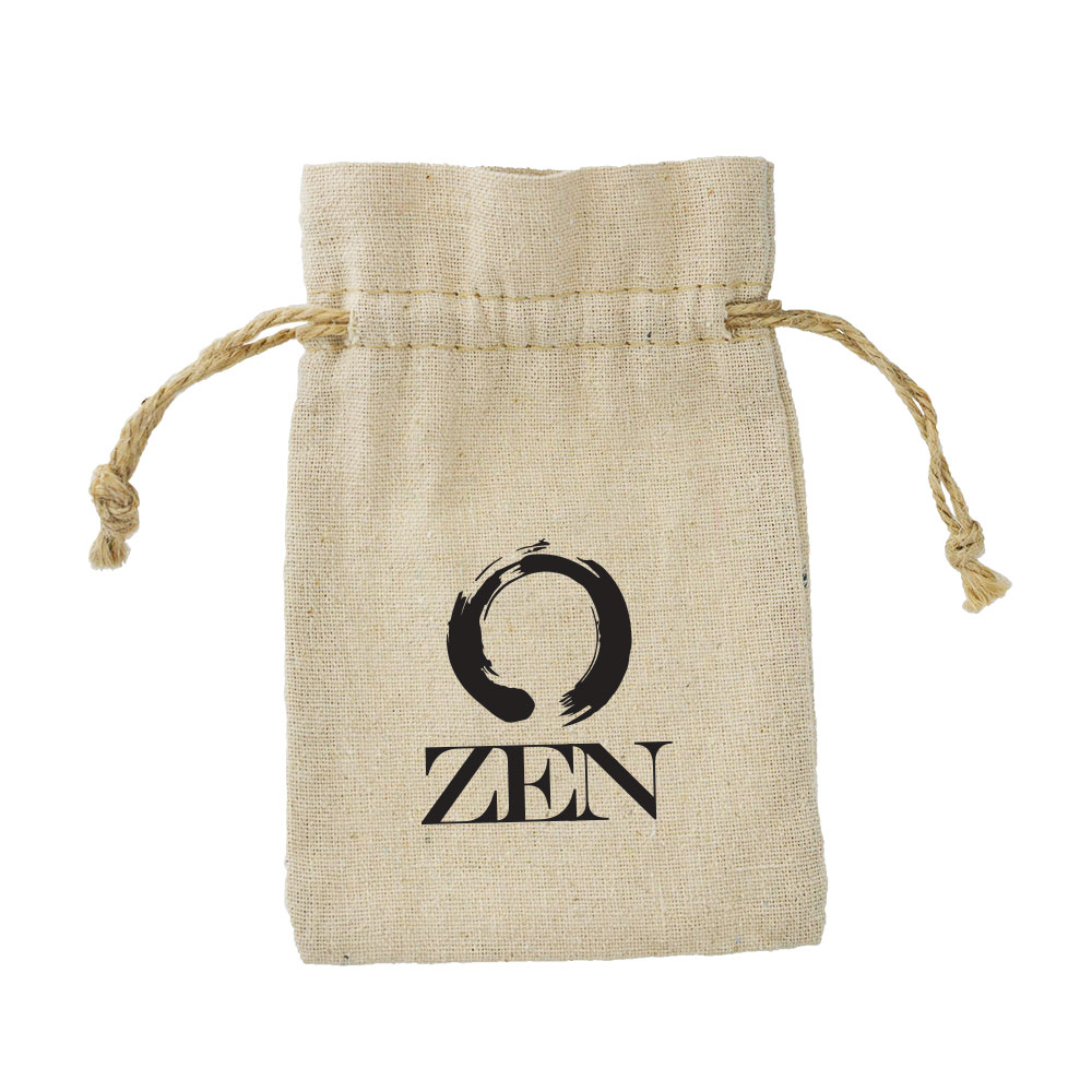 Linen Drawstring Bag (With Imprint) - 4