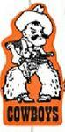 Cowboy Mascot on a Stick