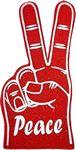 Stock Peace Sign Foam Hand Mitt
