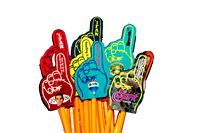 "Full-Color Mini #1 Hand Pencil Topper (3.5"")"