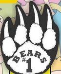 Bear Paw Foam Hand Mitt