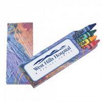 Prang® Impressionist 4 Pack Crayons (Imprinted)