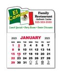 Custom 1 Month View Magnet Calendar Pad w/Wavy Top