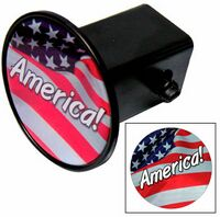 Hitch Cover w/Laminated Decal (Circle)