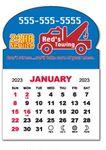 Custom 1 Month View Magnet Calendar Pad w/Oval Top