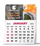 Custom 1 Month View Adhesive Calendar Pad w/ Rounded Corners