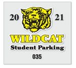 Custom Static Stick Parking Permit Decal w/Face Application (3