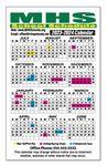 Custom At-A-Glance School Calendar Magnet, Round Corners (3 1/2
