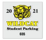 Custom Clear Polyester Parking Permit Decal w/Face Application (3