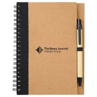 "5"" x 7"" Eco Spiral Notebook with Pen"