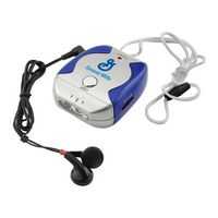 Pop Lanyard FM Scanner Radio w/ Flashlight