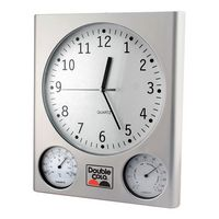 Mumbai Weather Station Wall Clock w/ Thermometer & Hygrometer