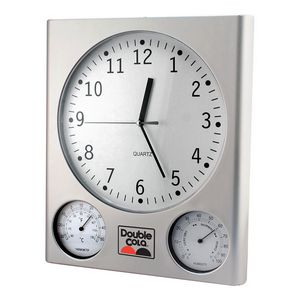 Mumbai Weather Station Wall Clock w/ Thermometer & Hygrometer