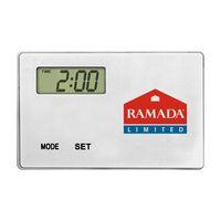 San Diego Ultra Thin Refrigerator Magnet Clock