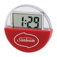 Los-Angeles Suction Cup LCD Clock and Calendar