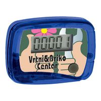 Galaxy Translucent Compact Pedometer w/ Belt Clip