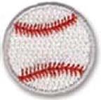 Custom Stock Embroidered Appliques - Baseball