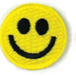 Embroidered Stock Appliques - Smiley Face