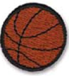 Stock Embroidered Appliques - Basketball