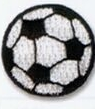 Embroidered Stock Appliques - Soccer Ball