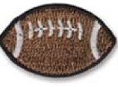 Embroidered Stock Appliques - Football