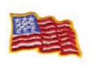 Embroidered Stock Appliques - Flag