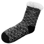 Custom Sherpa Lined Fuzzy Feet Crew Socks