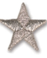 Embroidered Stock Appliques - Silver Star