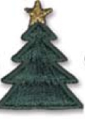 Stock Embroidered Appliques - Christmas Tree