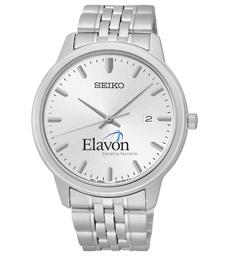 Mens Seiko Mens Quartz Silver Dial/Bracelet Special Value Watch