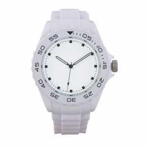 Custom Beach White Sport Watch