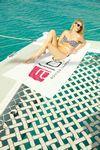 Custom Superior Weight White Beach Towel