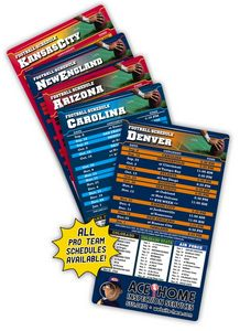 25 Mil Laminated Pro Football Sport Schedule Magnet