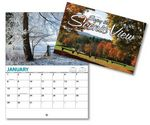 Scenic View 13 Month Mini Custom Photo Appointment Wall Calendar