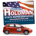 Political Magnetic Car Sign w/ Round Corners (24