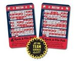 """Laminated Wallet Card - 3.5""""x2.25"""" Baseball Schedules (2-Sided) - 14 Point"""