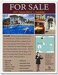 "Real Estate Flyer - 8.5""x11"" - 4 Point Gloss Text"