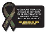 25 Mil Laminated Rectangle w/Awareness Ribbon Side Magnet