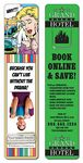 UV Coated 14 Point Paper Bookmark with Page Holder (1.75