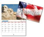 Custom Patriotic 13 Month Mini Custom Photo Appointment Wall Calendar