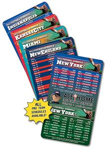 20 Mil Coated Pro Football Sport Schedule Magnet