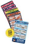 20 Mil Baseball Sport Schedules Magnet w/ Round Corners (3.5