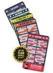 25 Mil Baseball Sport Schedules Magnet w/ Round Corners (3.5