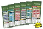 25 Mil Football Schedule Magnet w/Round Corners