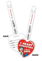 "UV-Coated Plastic Heart I.D. Tags (3.25""x9.5"")"