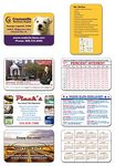 """14 Point Laminated Football Schedule Wallet Card (3.5""""x2.25"""")"""