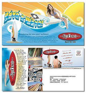 Custom Large UV-Coated (1S) Postcard - 10.5
