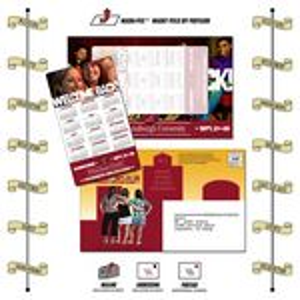 "Announcement Magna-Peel Postcard w/ 6"" Magnet (8.5""x5.25"")"