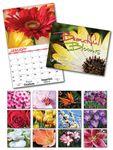 Custom Beautiful Blooms 13 Month Custom Appointment Wall Calendar (8.5
